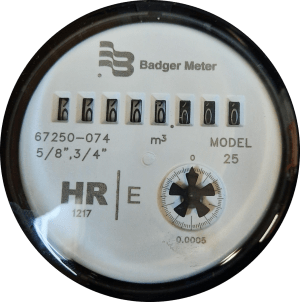 Photo of water meter